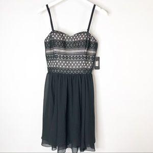 Guess Black Lace Scarlett Dress Size 10 NWT